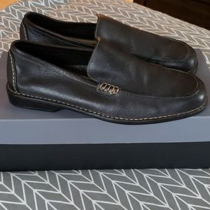 Mens EUC sz 12M Rockport black leather loafers